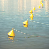 Buoys in the port Royalty Free Stock Image