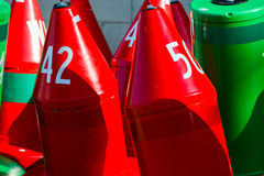 Buoys - Red and Green Royalty Free Stock Photography