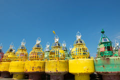 Buoys for the sea Royalty Free Stock Image