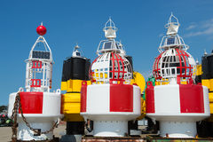 Buoys for the sea Stock Photo