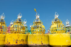 Buoys for the sea Stock Image