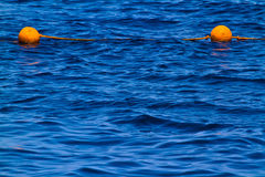 Buoys on the sea. Egypt. Shallow depth of field. Toned Royalty Free Stock Image