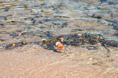 Buoys in the sea Stock Image