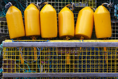 Buoys and Traps Stock Photos