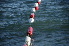 Buoys on the water Royalty Free Stock Photography
