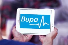 Bupa医疗保健公司商标 库存图片