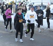 Bupa großer Winter-Lack-Läufer 2011 Stockfotos