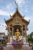 Bupa Lan寺庙在古城清迈,泰国 图库摄影