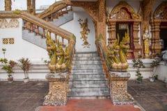 Bupa Lan寺庙在古城清迈,泰国 免版税库存图片