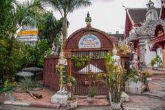 Bupa Lan寺庙在古城清迈,泰国 免版税库存照片