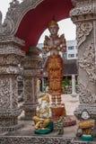 Bupa Lan寺庙在古城清迈,泰国 库存图片