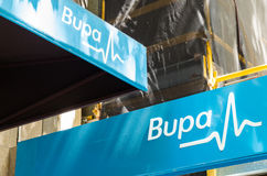 Bupa private health insurance office in Melbourne. Melbourne, Australia - February 23, 2017: Bupa is Australia`s second largest private health insurance fund stock photos