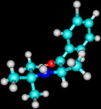 Bupropion molecule isolated on black Stock Image