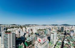 Bupyeong顾,茵契隆都市风景  库存图片