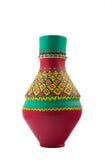 Buque colorido adornado egipcio de la cerámica Imagenes de archivo