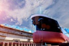 Buque de carga bajo reparación Imagen de archivo