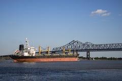 Buque de carga del río Misisipi Fotografía de archivo