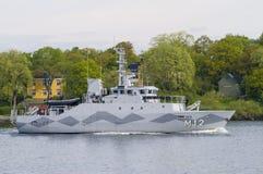 Buque de guerra de mina del HMS Spårö Imagen de archivo