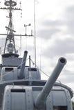 Buque de guerra del artillero Imagen de archivo libre de regalías