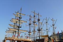 Buque de la vela del pirata Foto de archivo