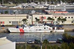 Buque del guardacostas en Miami, la Florida Foto de archivo