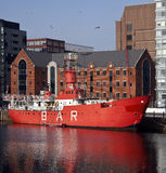 Buque faro - muelle de Albert - Liverpool - Inglaterra Fotografía de archivo