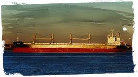 Buque o carguero de carga fotos de archivo libres de regalías