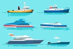 Buques con el diverso sistema de los ejemplos de las funciones libre illustration