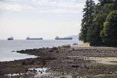Buques de carga de la costa Foto de archivo