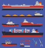 Buques de carga infographic stock de ilustración