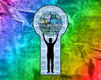 Buraco da fechadura Imagens de Stock