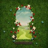 Buraco da fechadura ilustração royalty free
