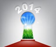 Buraco da fechadura 2014 do tapete vermelho de ano novo Imagens de Stock Royalty Free
