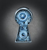 Buraco da fechadura para o sucesso de negócio Foto de Stock