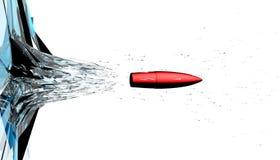 Buraco de bala no vidro Imagem de Stock Royalty Free