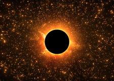 Buraco negro - eclipse do sol ilustração stock