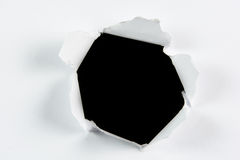 Buraco negro grande rasgado descoberta no Livro Branco Fotos de Stock