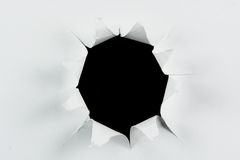 Buraco negro grande rasgado descoberta no Livro Branco Foto de Stock