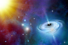 Buraco negro no espaço ilustração stock
