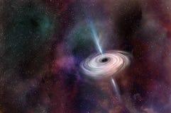 Buraco negro no espaço ilustração do vetor