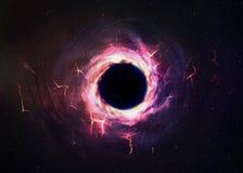 Buraco negro no espaço fotos de stock royalty free
