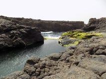 Buracona, ilha做婆罗双树, Cabo Verde 库存照片