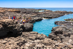 Buracona en île de sel Cap Vert - Cabo Verde photographie stock libre de droits