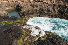 Buracona en la isla Cabo Verde - Cabo Verde de la sal Fotografía de archivo