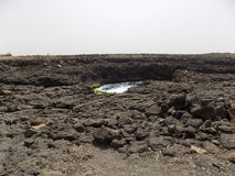 Buracona, ilha faz o Sal, Cabo Verde Imagens de Stock Royalty Free