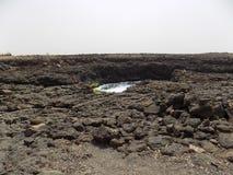 Buracona, ilha font le sel, Cabo Verde Images libres de droits