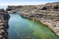 Buracona  in sal Island Cape Verde - Cabo Verde Stock Photos