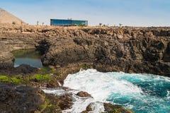 Buracona  in sal Island Cape Verde - Cabo Verde Stock Photography