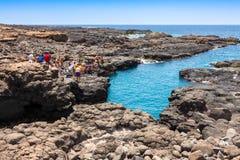 Buracona w sal wyspy przylądku Verde, Cabo - Verde fotografia royalty free