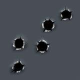 Buracos de bala Imagem de Stock Royalty Free